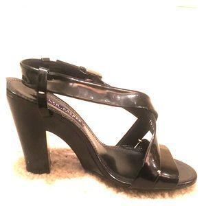 Ralph Lauren Collection 6.5 black heel sandals